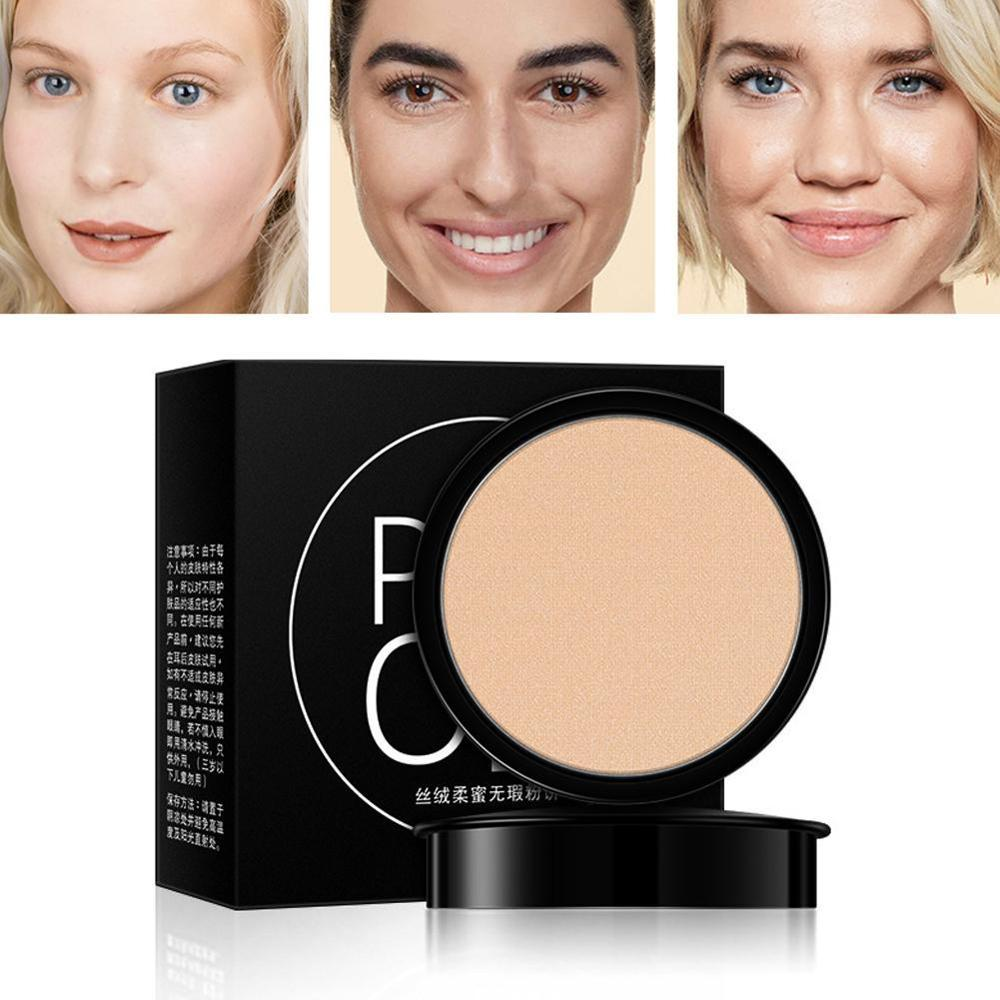 Face Makeup powder 3 Color Soft Oil-control Pressed Setting Powder Makeup Concealer Brighten Whitening Moisture Foundation image