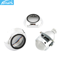 RONAN 3.0 Metal Super HID Bi xenon Projector lenses Headlight H1 with shrouds Headlamps for H1 H4 H7 Car Styling Automobiles