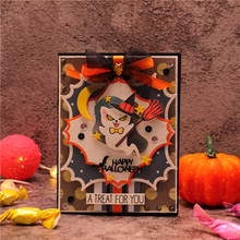 InLoveArts Happy Halloween Metal Cutting Dies for Card Making Scrapbooking Embossing Cuts Stencil Craft New 2019 for Dies inlovearts flower heart dies metal cutting dies new 2019 for card making scrapbooking dies embossing cuts stencil craft dies