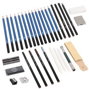 Image 3 - 40 pièces Kit de crayons de dessin de croquis professionnel marqueurs dart ensemble doutils de peinture pour dessin détudiant