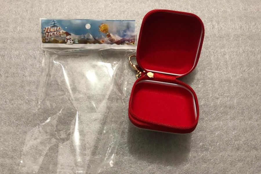 1PC Natal Flandres Coin Purse Dos Desenhos Animados Praça Caixas Dos Doces Caixa de Presente Kid Ano Novo Papai Noel Ornamento Pingente Decoração