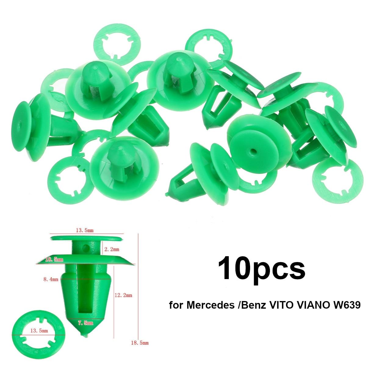 10pcs panneau de porte Garniture Retainers clips arrière pour MERCEDES Intérieur