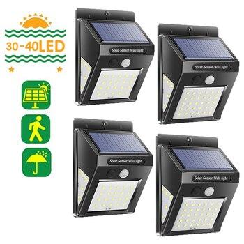 цена на 30/40 LED Solar Light Outdoor PIR Motion Sensor Solar Lamp Solar Power Lamp PIR Motion Sensor Wall Light Garden Yard
