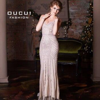 Luxury Tulle Crystal Mermaid Plus Size Evening Dress Long 2019 Vestidos De Fiesta De Noche Prom Dresses Robe De Soiree OL102829 3