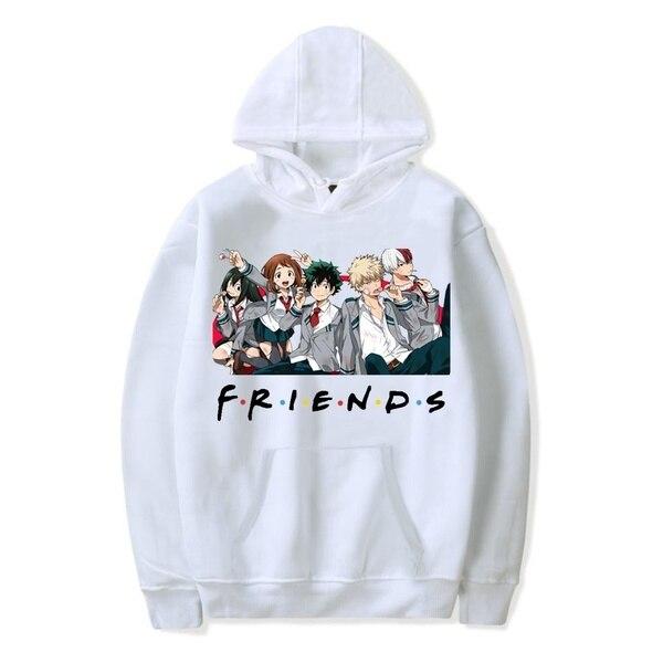 Friends Oversized Hoodie Sweatshirt Women Men My Hero Academia Friends Polerone Bluza Damska Korean Clothe Streetwear Sweatshirt 2