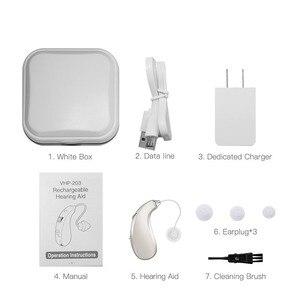 Image 5 - 203S najlepszy aparat słuchowy wzmacniacz dźwięku regulowany ton akumulator cyfrowe aparaty słuchowe RIC wzmacniacz dźwięku głosu DropShipping