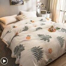 Fleece Blanket Winter Flannel Thick Bedspreads Nordic Couple Bed Quilt Cartoon Bedsheet Adult Children TV Throws Sofa Bedcover