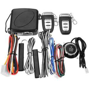 Car-Alarm Starter-Switch Stop One-Button Antitheft-System Push-Engine Entry-Start Auto