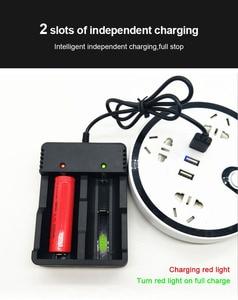 Image 4 - VOXLINK batteria del caricatore 2 slot USB Intelligente di ricarica 18650 26650 21700 14500 26500 22650 26700 Li Ion Ricaricabile