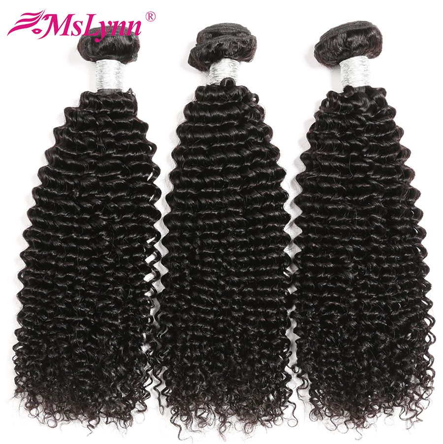 Afro Kinky Curly Bundles Brazilian Hair Weave Bundles Human Hair Weave Bundles 4 Or 3 Bundles Natural Black Mslynn Remy Hair