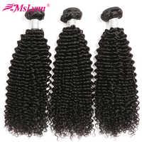 Afro Kinky Krullend Haar Braziliaanse Hair Weave Bundels Human Hair Weave Bundels 4 of 3 Bundels Natuurlijke Zwarte Mslynn Remy haar