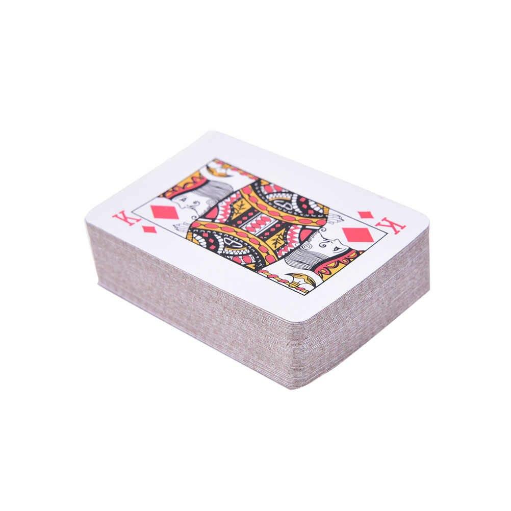 Folha portátil chapeado mini poker tradicional conjunto casino ferramenta jogo de tabuleiro à prova dwaterproof água jogando cartas mini poker