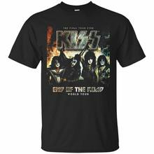 KISS Rock Band Classic T shirt End The Road World Tour the final tour Sz Men's T-Shirt Short Sleeve Brand(China)