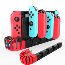For Nintendo Switch Charger 4 Port Joycons Controller Gamepad Charging Dock Station Switch Console Holder Charger 9 Game Slots