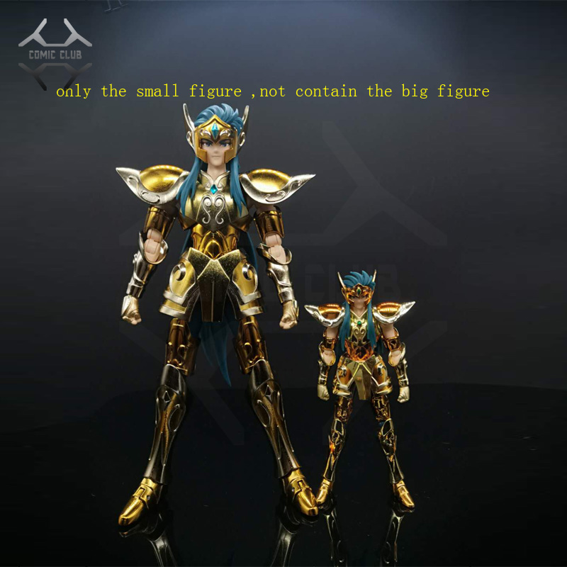 COMIC CLUB IN-STOCK Mini Cloth Myth DDP Scale 100mm EX Gold Saint Aquarius Camus With Object Metal Armor Action Figure Toy