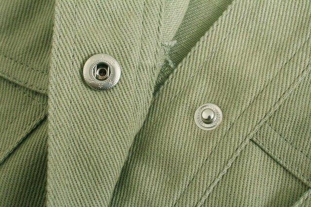 Toppies Green Cotton Shirt Jacket Button Down Loose Coat Women Long Sleeve Pockets Jacket Streetwear 6