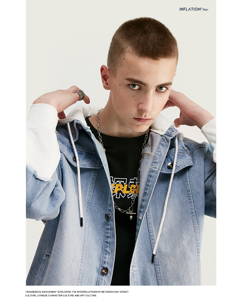 light blue denim jacket for men