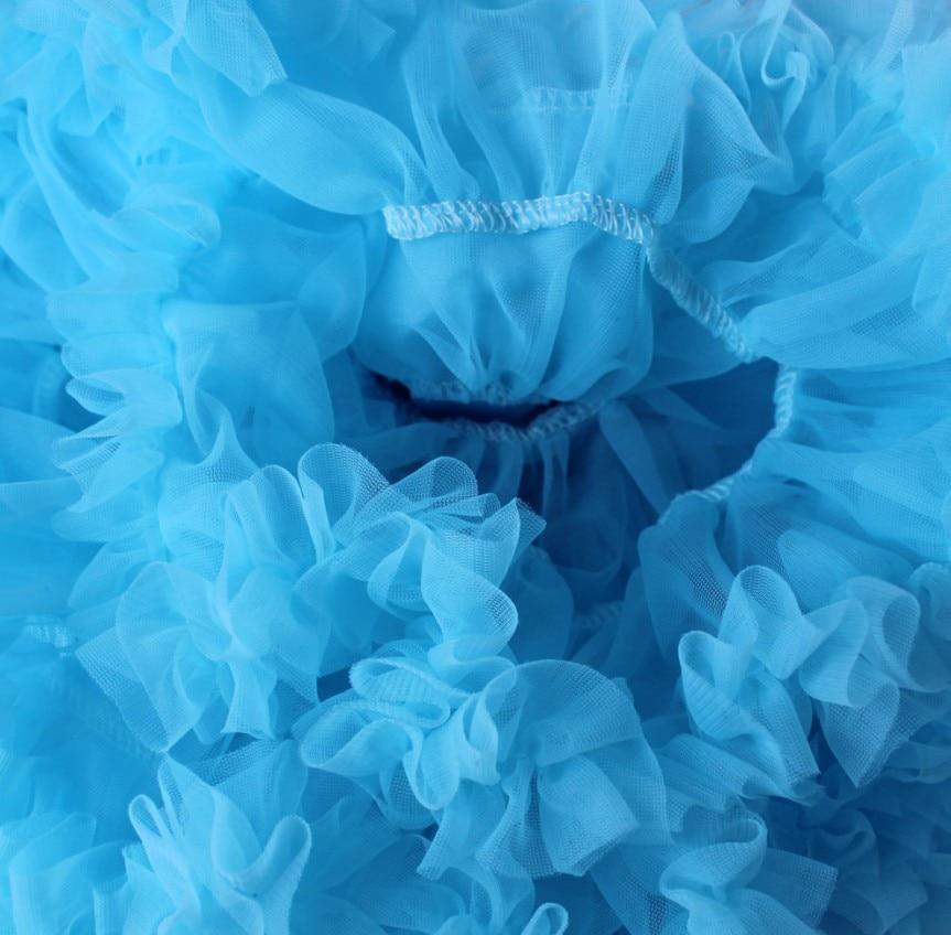 Юбка-пачка для малышей шифоновая юбка-пачка для девочек, детские юбки-американки, юбка для танцев Одежда для мамы и дочки - Цвет: Небесно-голубой