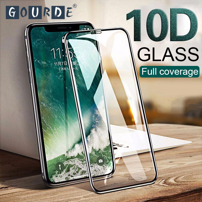 Gourde 10D Full Cover Protective Glass For IPhone 11 Pro 7 8 Plus X XR XS MAX Glass On Iphone X XR XS 6 6S 7 8 Screen Protector