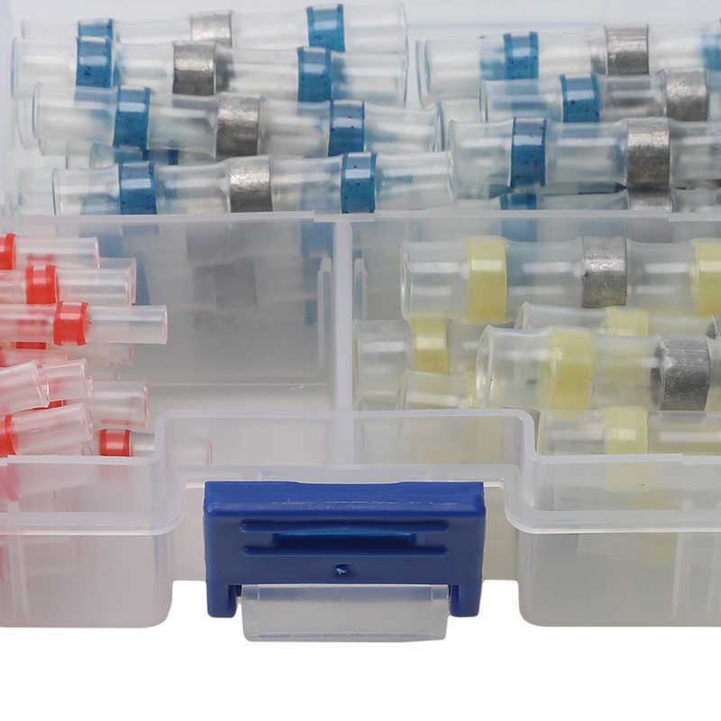 100 шт Новый стиль термоусадочный соединитель терминалы водонепроницаемый Ассорти припой рукав Соединительный термоусадочный рукав прикладочная проволока + коробка