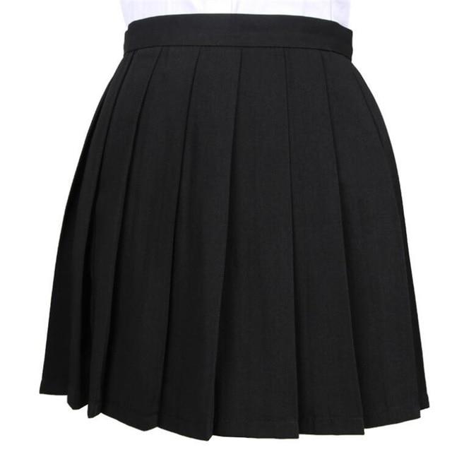 Women's Skirts Ladies Kawaii Pleated Cos Macarons Solid Color High Waist Skirt Female Korean Harajuku Clothing For Women Casual 6