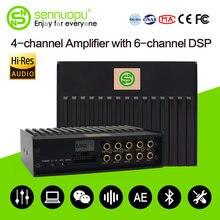 Sennuopu Auto DSP Verstärker für Lautsprecher 6 Kanäle Audio System Bluetooth Spielen Sound Prozessor Tuning durch APP Hohe Qualität