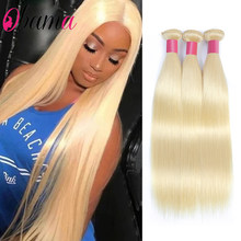 Blonde 613 Color 16 18 20 22 24 26 28 Inch Long Brazilian Straight Hair Bundle Human Hair Weave Remy Brazilian Hair 3/4 Bundles