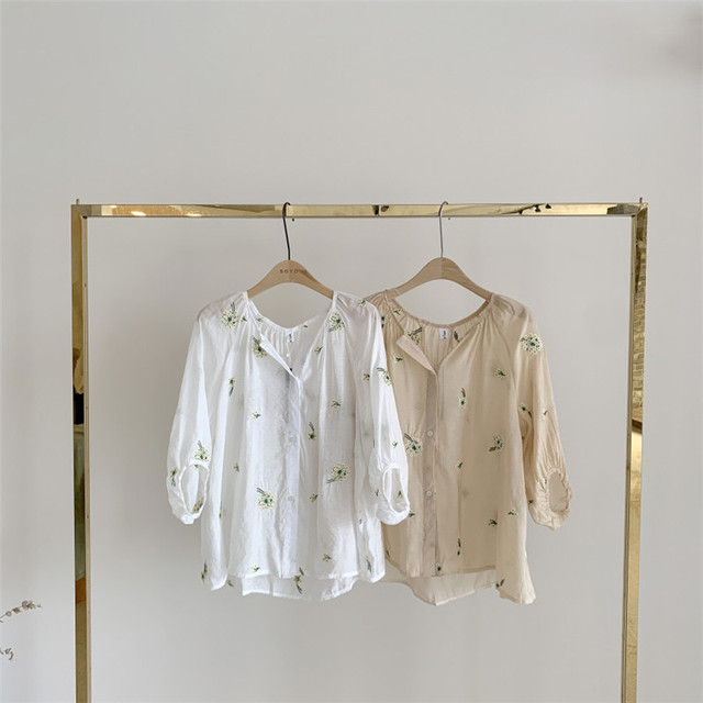 Женская блузка с рукавами фонариками свободная Элегантная в