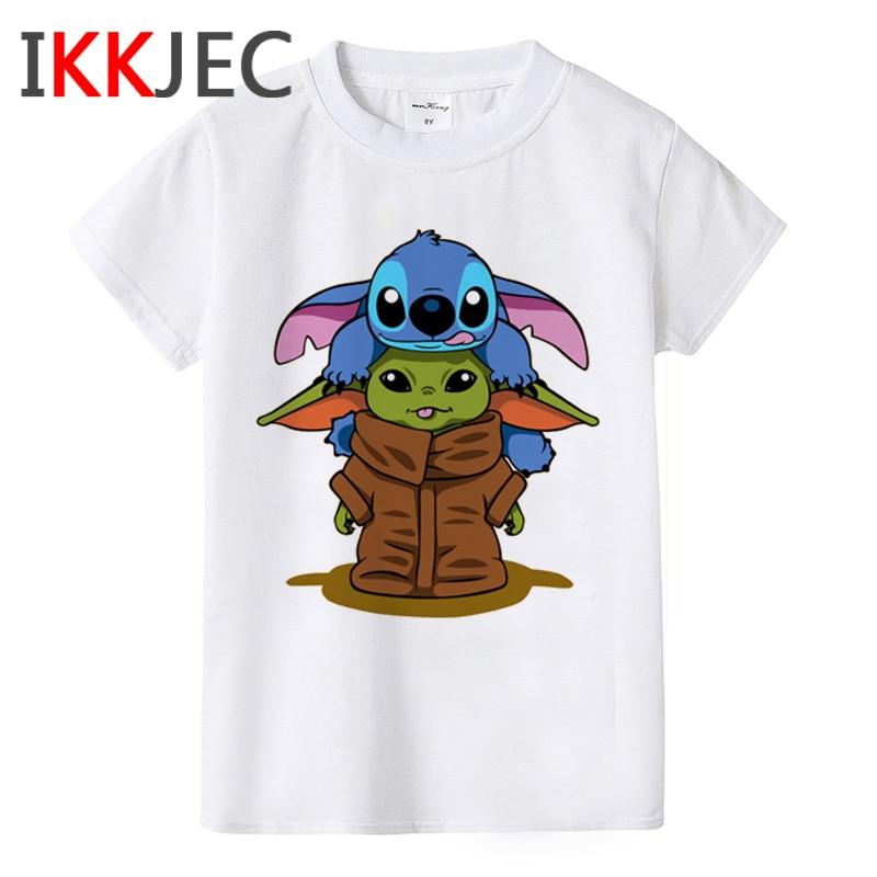 Baby Yoda Kawaii Boys/girls Children T Shirt Cute Star Wars Short Sleeve Kids T-shirt The Mandalorian Tshirt Child Cool Top Tees