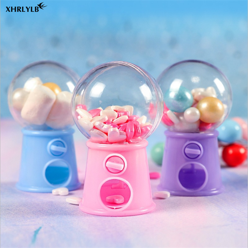 XHRLYLB 3pc European Creative Candy Box Mini Light Bulb Rotating Sugar Box Baby Shower Wedding Decoration Unicorn Party Gift .7z