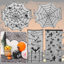 Scarf-Cover Decoration Props Horror Party-Supplies Lace Window-Door-Tablecloth Spiderweb