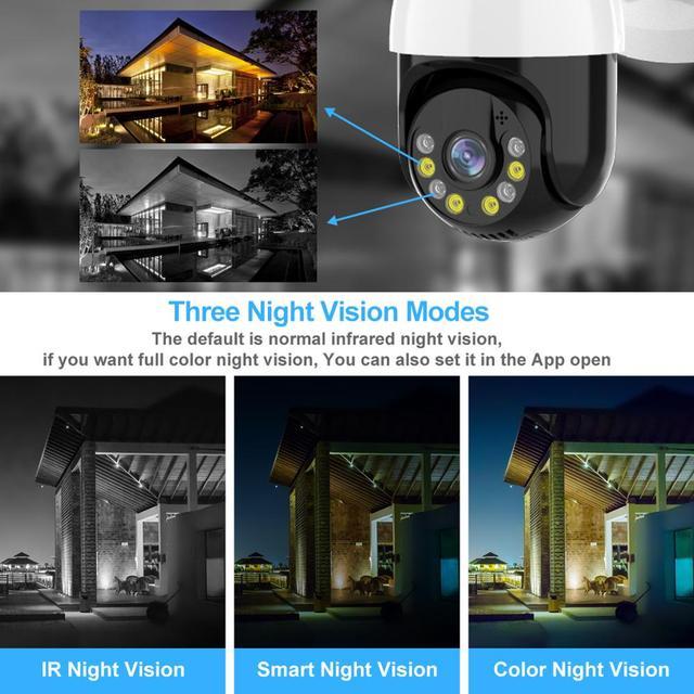 3MP PTZ WIFI IP Camera Outdoor 4X Digital Zoom Night Full Color Wireless H.265 P2P Security CCTV Camera Two Way Speak Audio 6