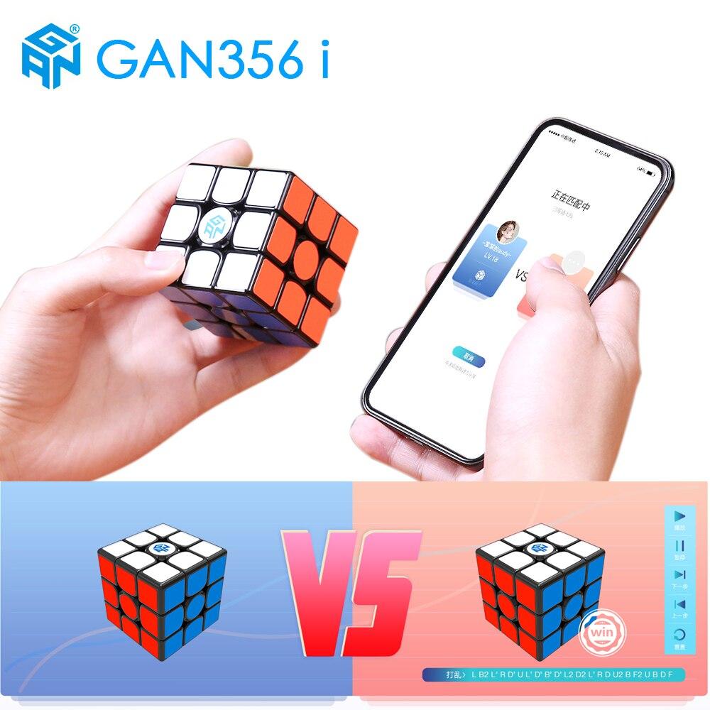 GAN356 i Magnética Cubo Mágico Velocidade Estação App 356i GAN GAN Ímãs Enigma Cubo Magico 3x3 Competição Online 356 i GAN356i