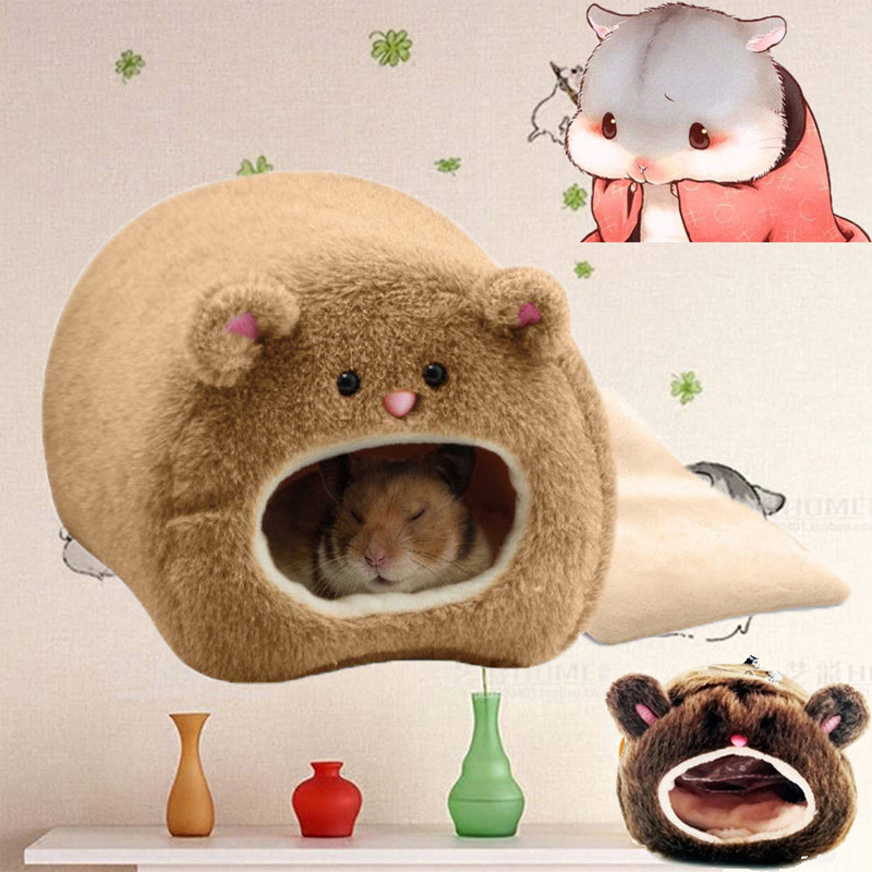 1Pcs Warm Bed Rat Hammock Squirrel Winter Pet Toy Hamster Cage House Ferret Rabbit Guinea Pig Hamster Squirrel Mice House Cages