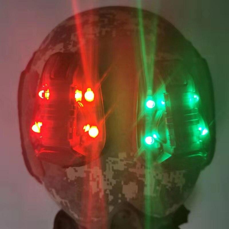 airsoft hel estrela 6 capacete sinal ir verde 04