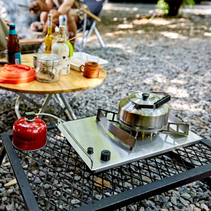 Image 5 - Naturehike 2019 חדש חיצוני שולחן עבודה תנור קלטת תנור נייד תנור פראי ברביקיו תנור כרטיס מגנטי תנור מנגל גז תנור