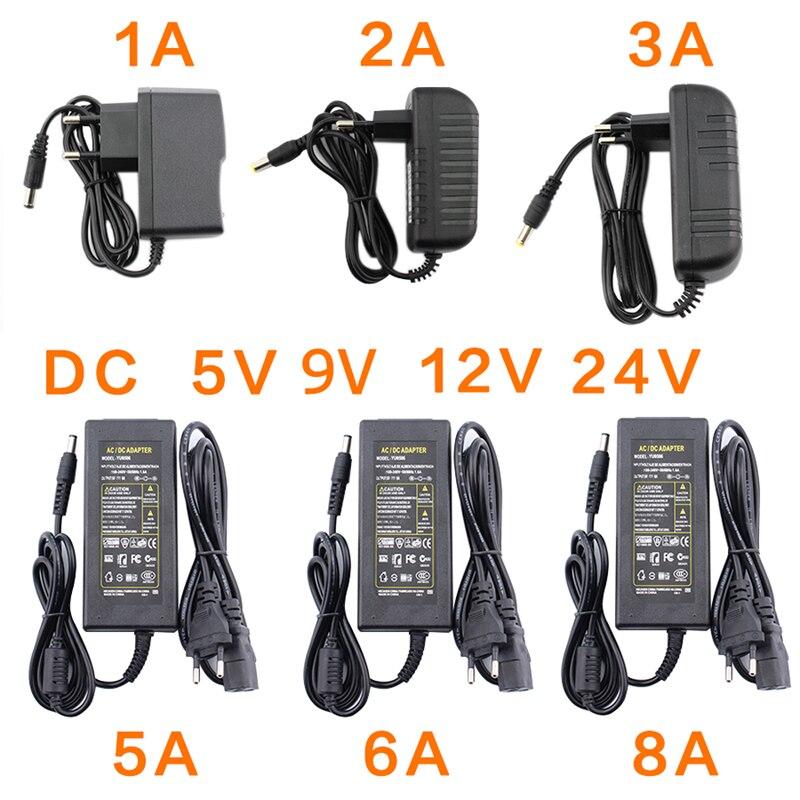 Ac dc 5 v 9 v 12 v 24 v fonte de alimentação adaptador 220 v a 5 v 9 v 12 v 24 v fonte de alimentação adaptador 1a 2a 3a 5a 6a 8a led driver lâmpada de luz