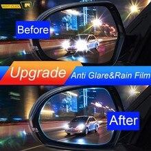 2 pièces/ensemble universel Anti-éblouissement brouillard miroir doux Film étanche à la pluie étanche protection pluie Shiels Film autocollant voiture accessoires