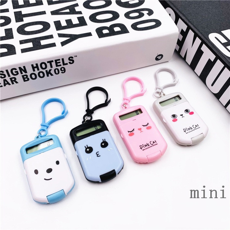 Mini Calculator Keychain Office-Supplies Pocket-Size Digit 8-Display Creative Portable title=