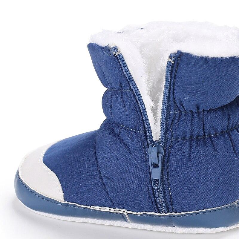 DOGEEK 0-18M hiver bébé fille garçon chaussons infantile enfant en bas âge bottes de neige nouveau-né chaud anti-dérapant doux semelle chaussures mode Anti-sale 5