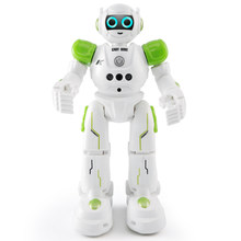 R11 Dancing Toy Singing Walking Kids Gift Robot RC Intelligent Remote Control Led Gesture Control(China)