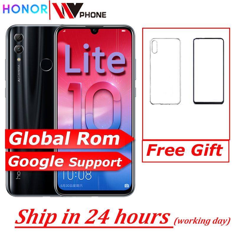 Global Rom Honor 10 Lite Honor10 Smart Phone 6.21 Inch 2340*1080 Octa Core Mobile Phone 3 Cameras Fingerprint