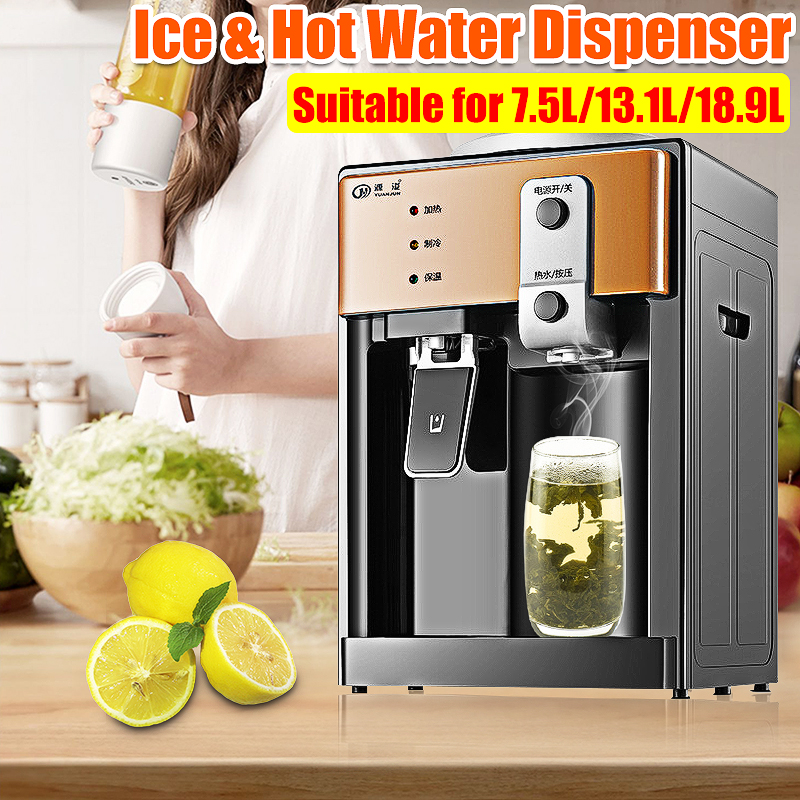 220V 550W Electric Water Dispenser Desktop Cold Hot Ice Water Cooler Heater Drinking Fountain for Home Office Coffee Tea Bar