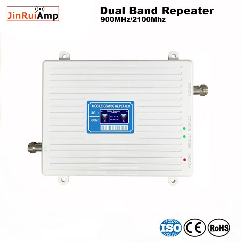 3G WCDMA 2100MHz GSM 900Mhz Dual Band Cellphone Cellular Signal Booster GSM 900 2100 UMTS Signal Repeater Amplifier#45