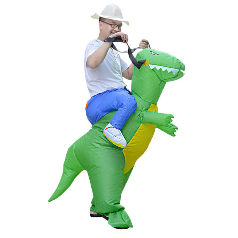 Halloween Adult Kids Fancy Dress Dinosaur Inflatable Costume Party Carnaval Amazing Fantasy Men Women Cosplay Birthday Gift