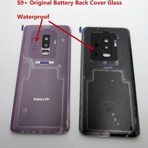 Image 4 - S9 الزجاج الأصلي لسامسونج غالاكسي S9 plus G960 G965 عودة غطاء البطارية الباب الخلفي الإسكان + لاصق الغراء مقاوم للماء