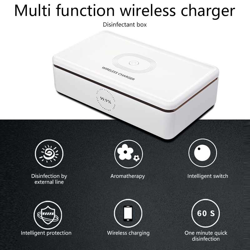 Multi-function Wireless Charger For Mobile Phones Wireless Charger Disinfection Box UV Sterilization Sterilization Box