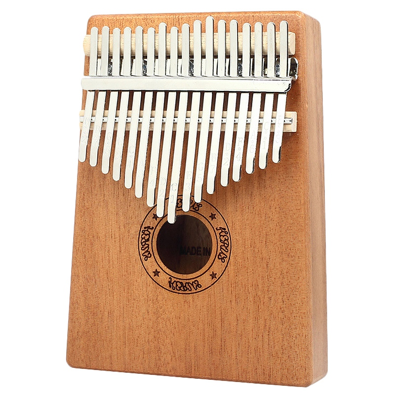 Kalimba Thumb Piano 17 Keys Mahogany Wooden Finger Percussion For Music Lover Beginners Children