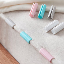 12 pçs folha de cama clipes de plástico antiderrapante braçadeira colcha capa de cama fixadores suporte de colchão para folhas de roupas de casa peg