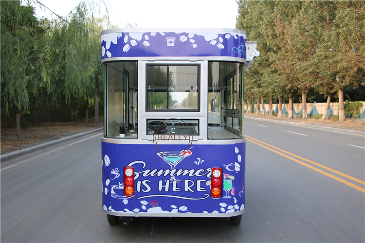 customized 3.5m electric food truck ice cream machine kitchen cart